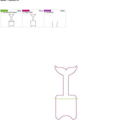 Tail silhouette Sanitizer holder snap tab 5×7