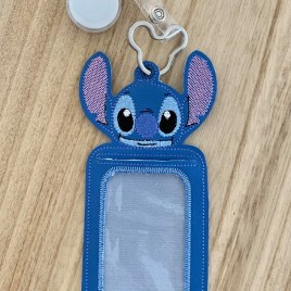ITH – Blue Alien ID Holder 5×7 only – Digital Embroidery Design