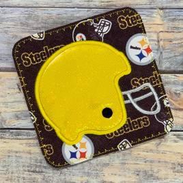 ITH Football Helmet Coaster  4×4 – DIGITAL Embroidery DESIGN