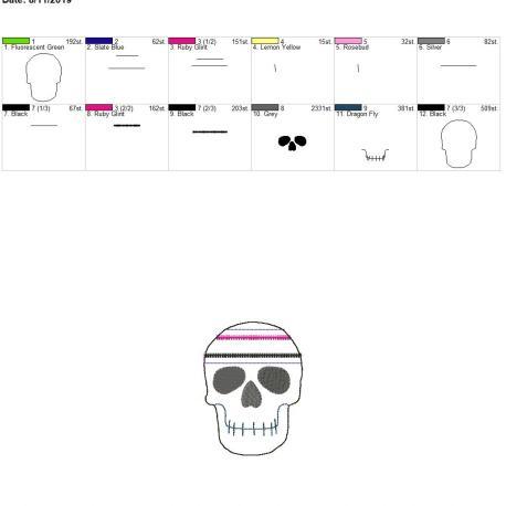 Skull zipper bag 4×4