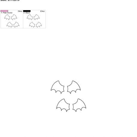 3d bat wing felties for fobs 4×4 grouped