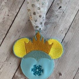 ITH Ice Queen Mouse Ornament – 4×4 – DIGITAL Embroidery DESIGN