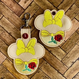 ITH Beauty Princess Mouse Fobs 4×4 and 5×7 included-  DIGITAL Embroidery DESIGN