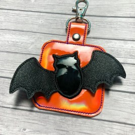 ITH 3D Bats fobs 4×4 and 5×7 included- DIGITAL Embroidery DESIGN