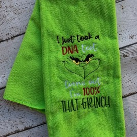 100 Percent that Grinch 5×7 – digital embroidery design