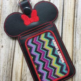 ITH Miss Mouse ID/Wallet Holder – 5 x 7 – DIGITAL Embroidery design