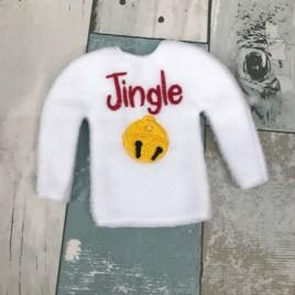ITH – Jingle Doll Sweater 5×7 – Digital Embroidery Design