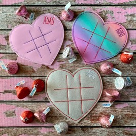 ITH – Heart XOXO Tic Tac Toe Board – Digital Embroidery Design