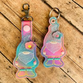 ITH 3D Gnome XL Fobs 4×4 and 5×7 included –  DIGITAL Embroidery DESIGN