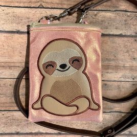 ITH – Sloth Zipper Bag – 3 sizes – Digital Embroidery Design