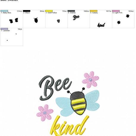 Bee Kind 5×7