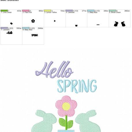 Hello Spring 5×7