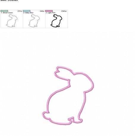 bunny applique 4×4