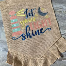 Let Your Light Shine – 3 Sizes – Digital Embroidery Design