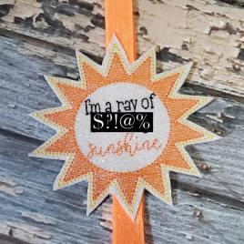ITH – Mature Sunshine – Book Band – Digital Embroidery Design