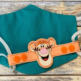 ITH Mask Extender Bouncing Tiger – 2 sizes – DIGITAL Embroidery DESIGN