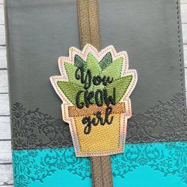 ITH – You Grow Girl – Book Band – Digital Embroidery Design
