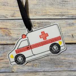Ambulance Ornament – Digital Embroidery Design