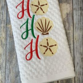 Beachy Ho Ho Ho -3 sizes – Digital Embroidery Design