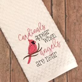 Cardinals Appear -2 sizes – Digital Embroidery Design