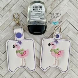Santa Flamingo Sanitizer Holders – DIGITAL Embroidery DESIGN
