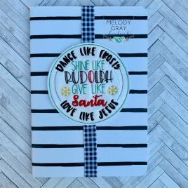 Dance Shine Give Love – Book Band – Embroidery Design, Digital File