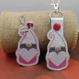 Valentine Gnome Fobs – DIGITAL Embroidery DESIGN