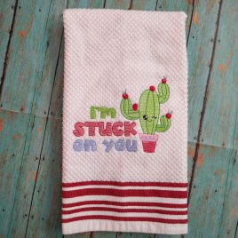 I'm Stuck On You – 2 sizes- Digital Embroidery Design