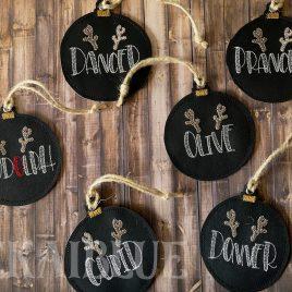 Reindeer Name Ornaments – Digital Embroidery Design