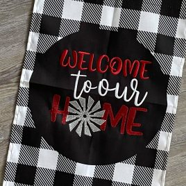 Welcome To Our Home – 4 sizes- Digital Embroidery Design