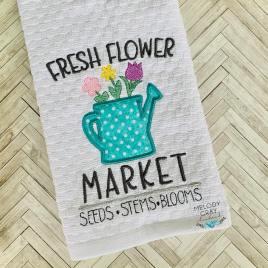 Fresh Flower Market – 3 sizes- Digital Embroidery Design