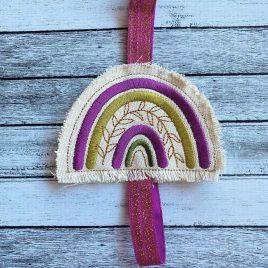 Boho Rainbow Book Band – Embroidery Design, Digital File