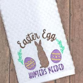 Easter Egg Hunters Needed – 3 sizes- Digital Embroidery Design
