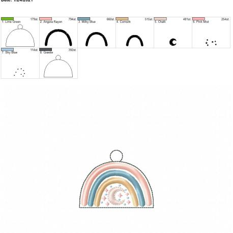 boho rainbow moon eyelet 4×4