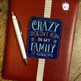 Crazy Family Book Band – Embroidery Design, Digital File