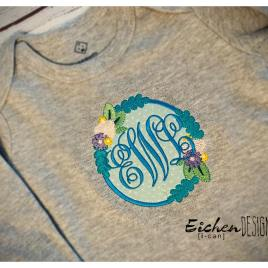 Floral Applique – 3 sizes- Digital Embroidery Design