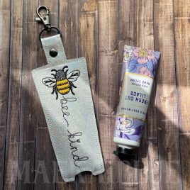 Bee Kind Hand Cream Holder 5×7 – DIGITAL Embroidery DESIGN