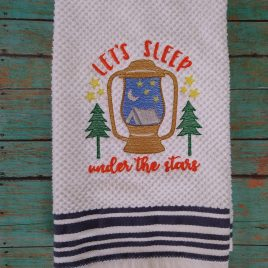 Let's Sleep Under The Stars – 3 sizes- Digital Embroidery Design