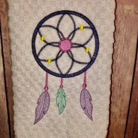 Boho Dream Catcher Sketch – 4 sizes- Digital Embroidery Design