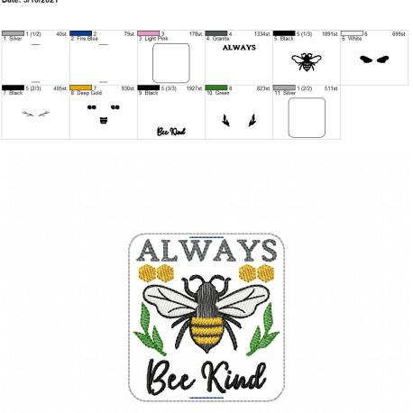Always Bee Kind book band 4×4