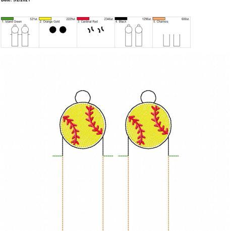 Baseball lip balm holder eyelet 5×7 grouped