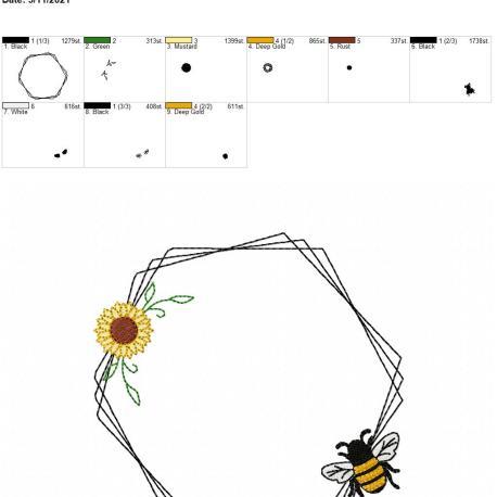 Bee Frame 2 6×10