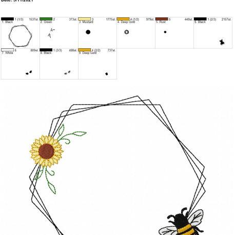 Bee Frame 2 8×12