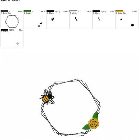 Bee Frame 3 4×4