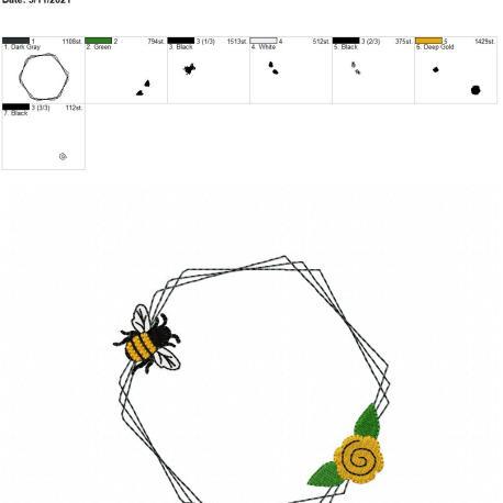 Bee Frame 3 5×7