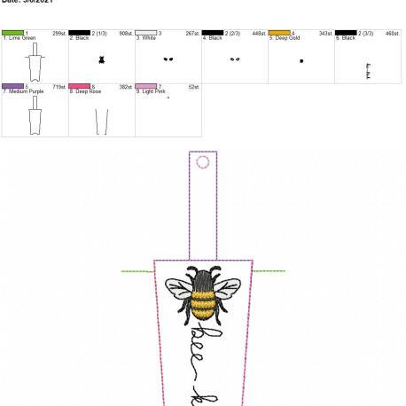 Bee kind hand cream holder 5×7