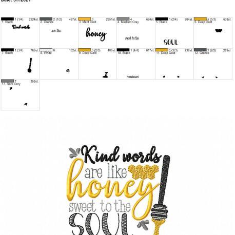 Kind words are like honey 4×4