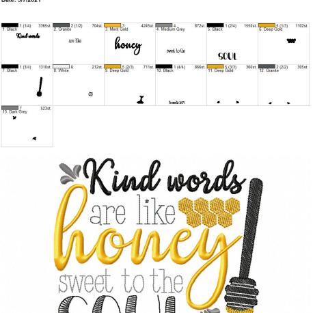 Kind words are like honey 6×10