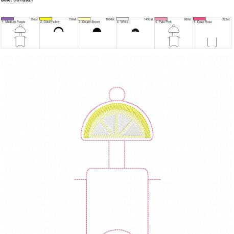 Lemon Sketch Fold Over Sanitizer Holder 5×7
