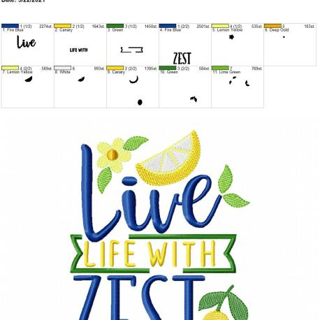 Live life with zest 5×7